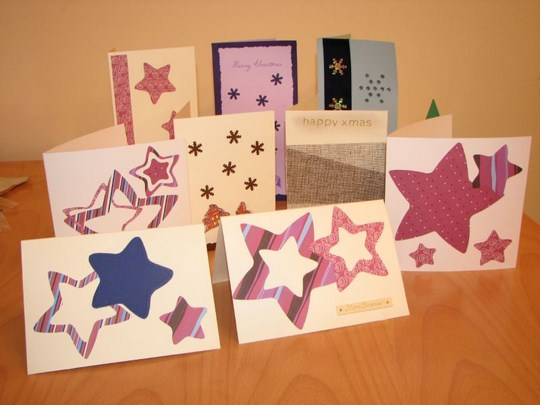 A variety of fabric cards. By mollydot (Flickr)