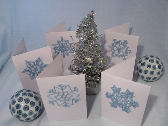 Glitter Christmas Cards. By melilab (Flickr)