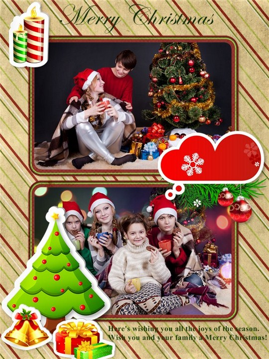 Merry Christmas collage. By Pearl Mountain (Flickr)