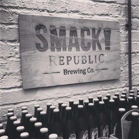 SMACK republic Brewing Co signage
