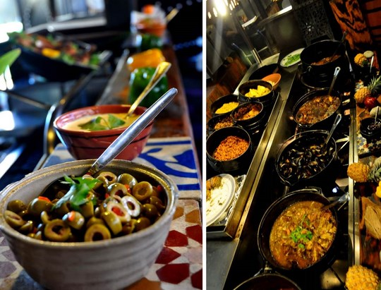 Moyo Restaurant Durban Buffet Menu