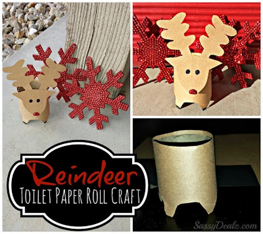 6 paper christmas decorations for the home or office Toilet paper roll centerpieces
