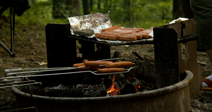 Cooking Hot Dogs on the Campfire, Jason Pratt (Flickr)