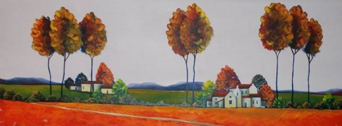 Painting of a landscape in Clarens Via Tobais Viljoen (via Clarens News)