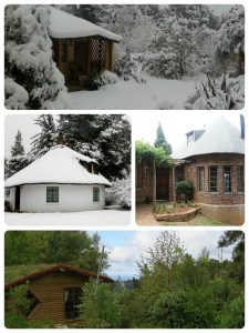 TravelGround accommodation in Hogsback: Granny Mouse House (top), Lothlorien Cottage Hogsback (middle left), Athanor-Hogsback (middle right), and Hogrock Falls (bottom)