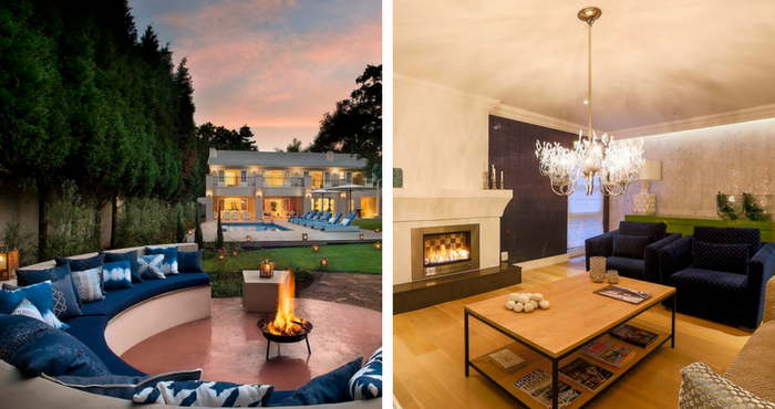 The boma area is the perfect spot to relax (left); The ritzy chandelier makes a statement (right) | Photos: TravelGround