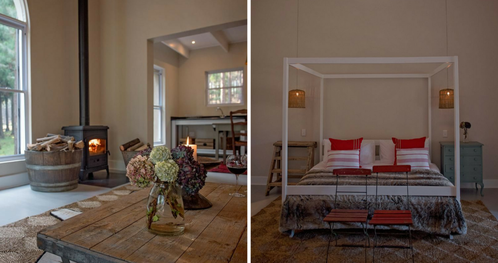 The stunning interior of The Stables And The Loft @ Glenogle Farm | Photos: TravelGround.