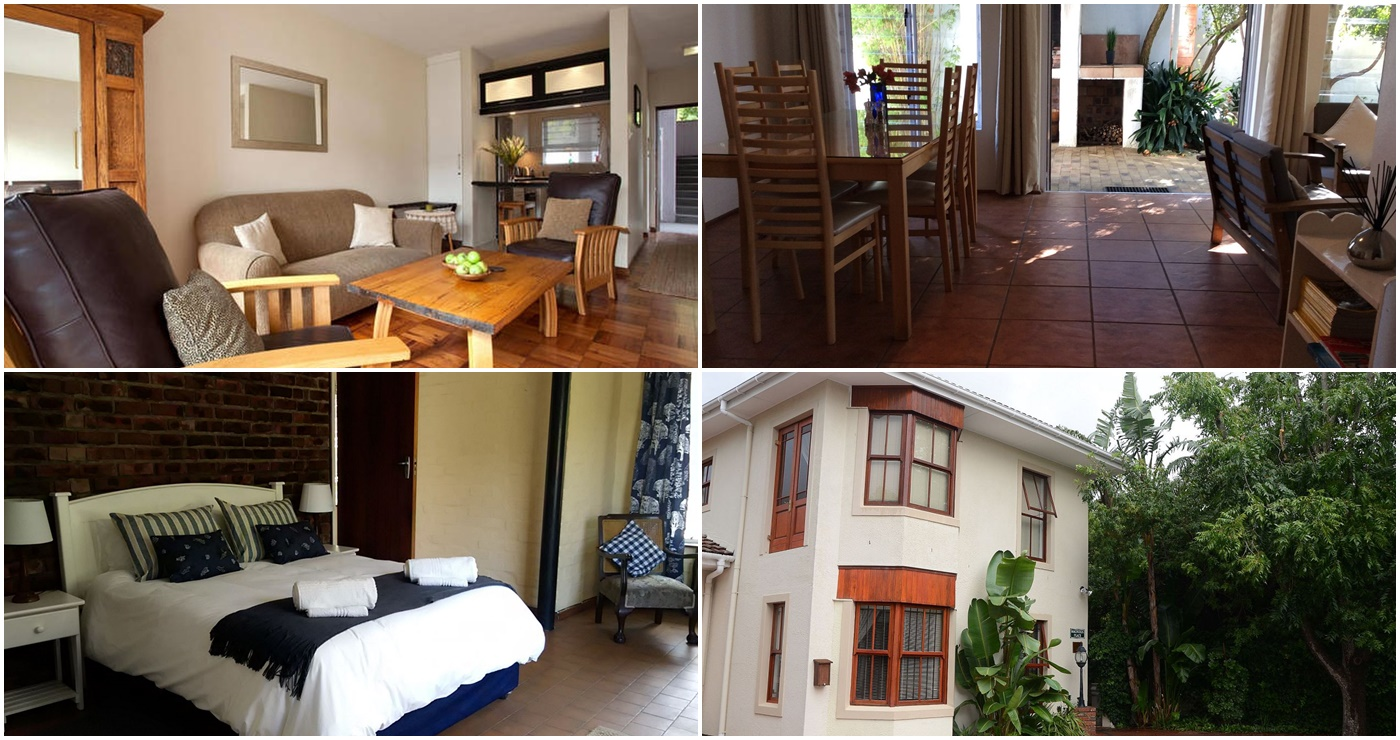 Vin Suite (Links bo) | Bokmakierie's Rest (Regs bo) | Stellenbosch Self Catering Cottage (Links onder) | Magnolia Place Stellenbosch Guest House (Regs onder)