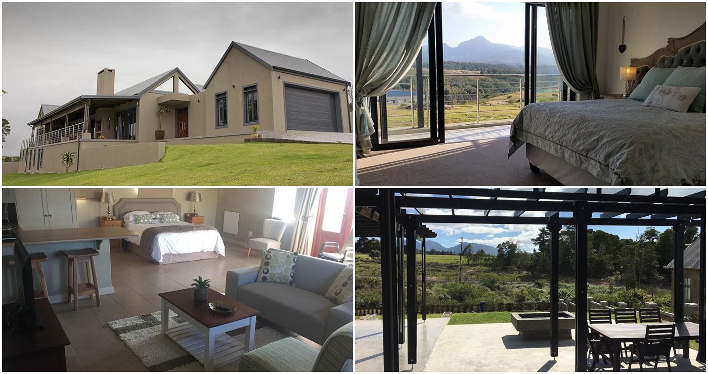 Garden Route Flat in George (Links bo) | Vakansie Huis Victoria Baai (Regs bo)|Limpopo Loft (Links onder) | 13 Kraaibosch Boulevards House (Regs onder)