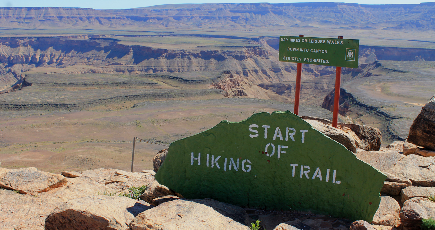 Start of Fish River Canyon Hike (Daniëlle Terblanche)