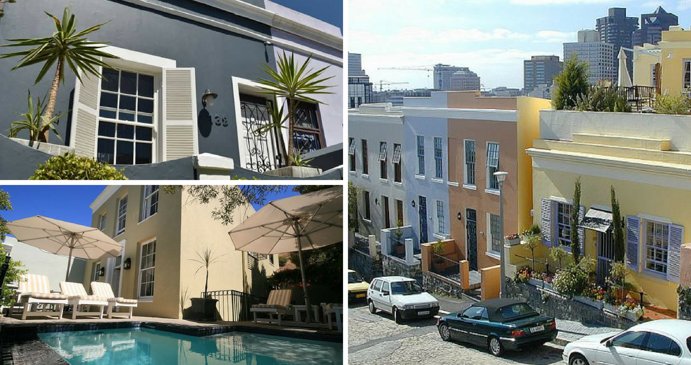 Bo links - 139 Waterkant Street, Onder links - De Waterkant House, Regs - De Waterkant Village