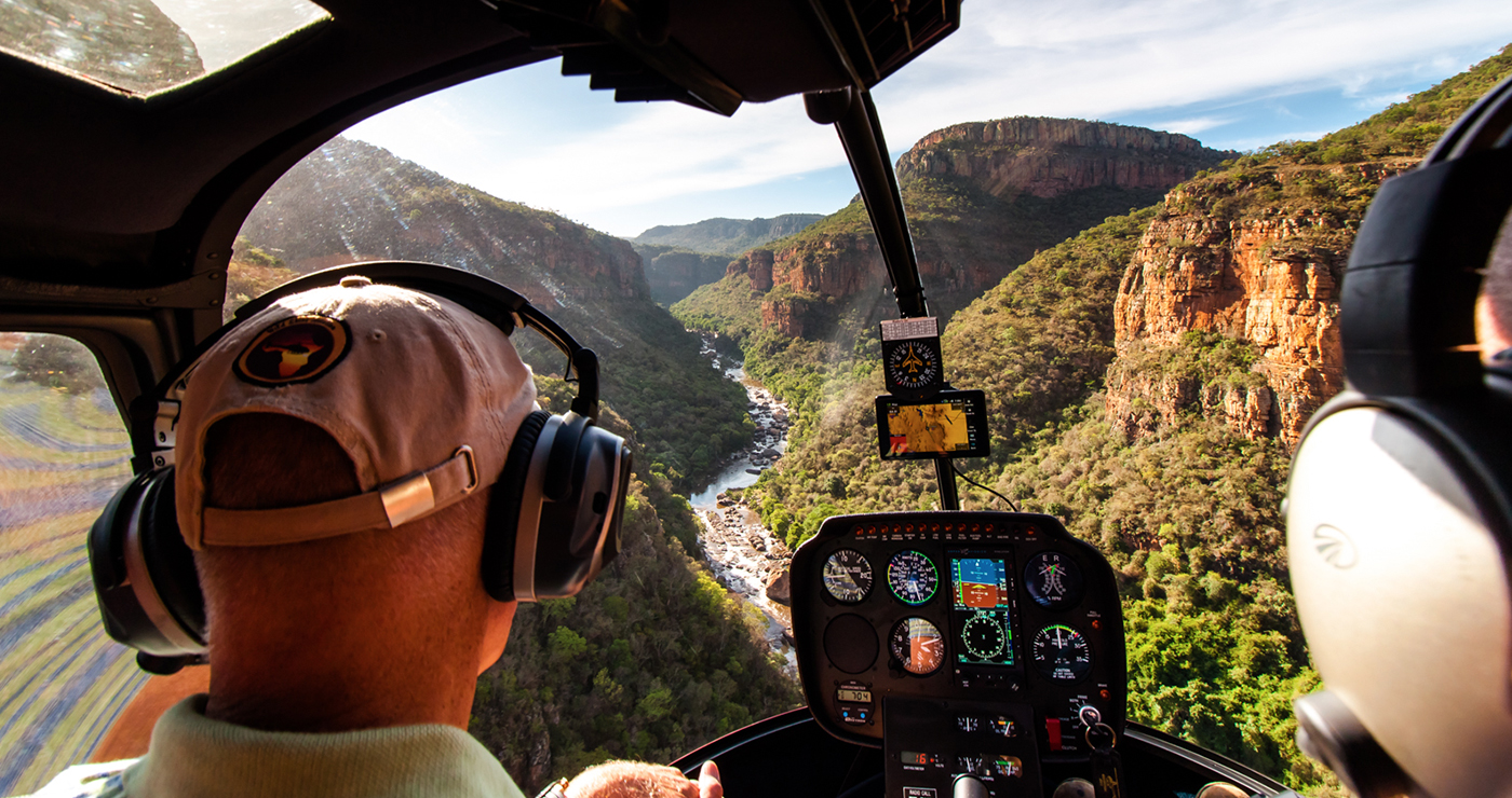 View of the Blyde River Canyon - Hoedspruit Helicopters
