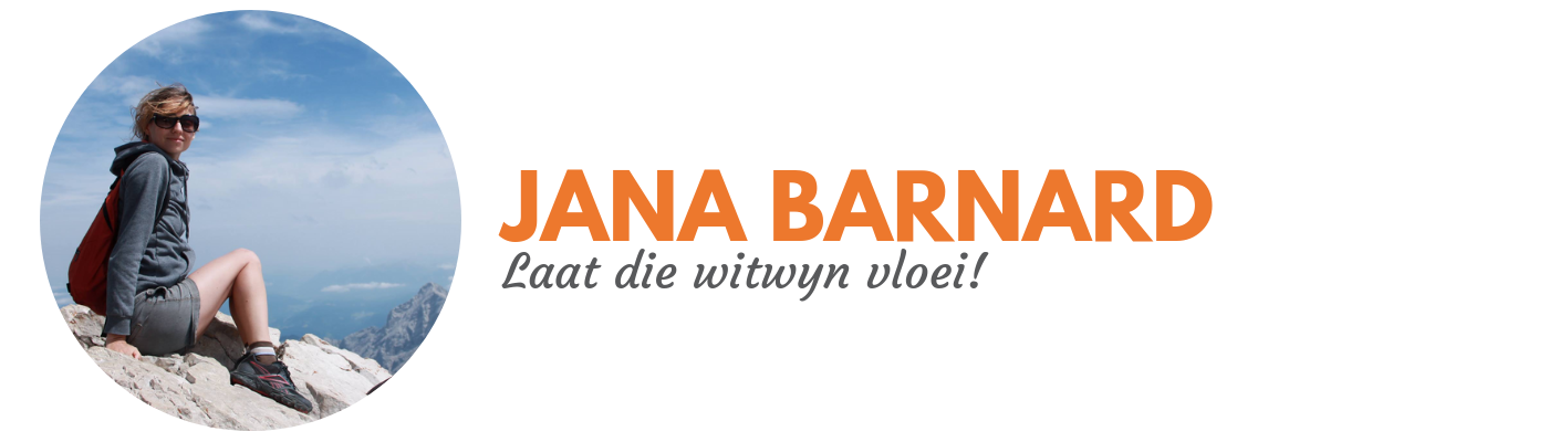 Jana Barnard: Laat die witwyn vloei