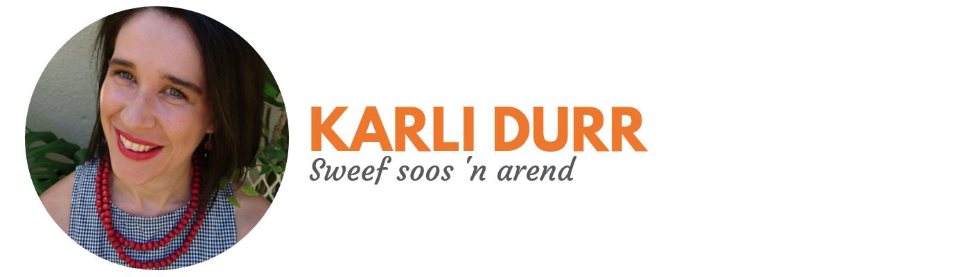 Karli Durr: Sweef soos 'n arend