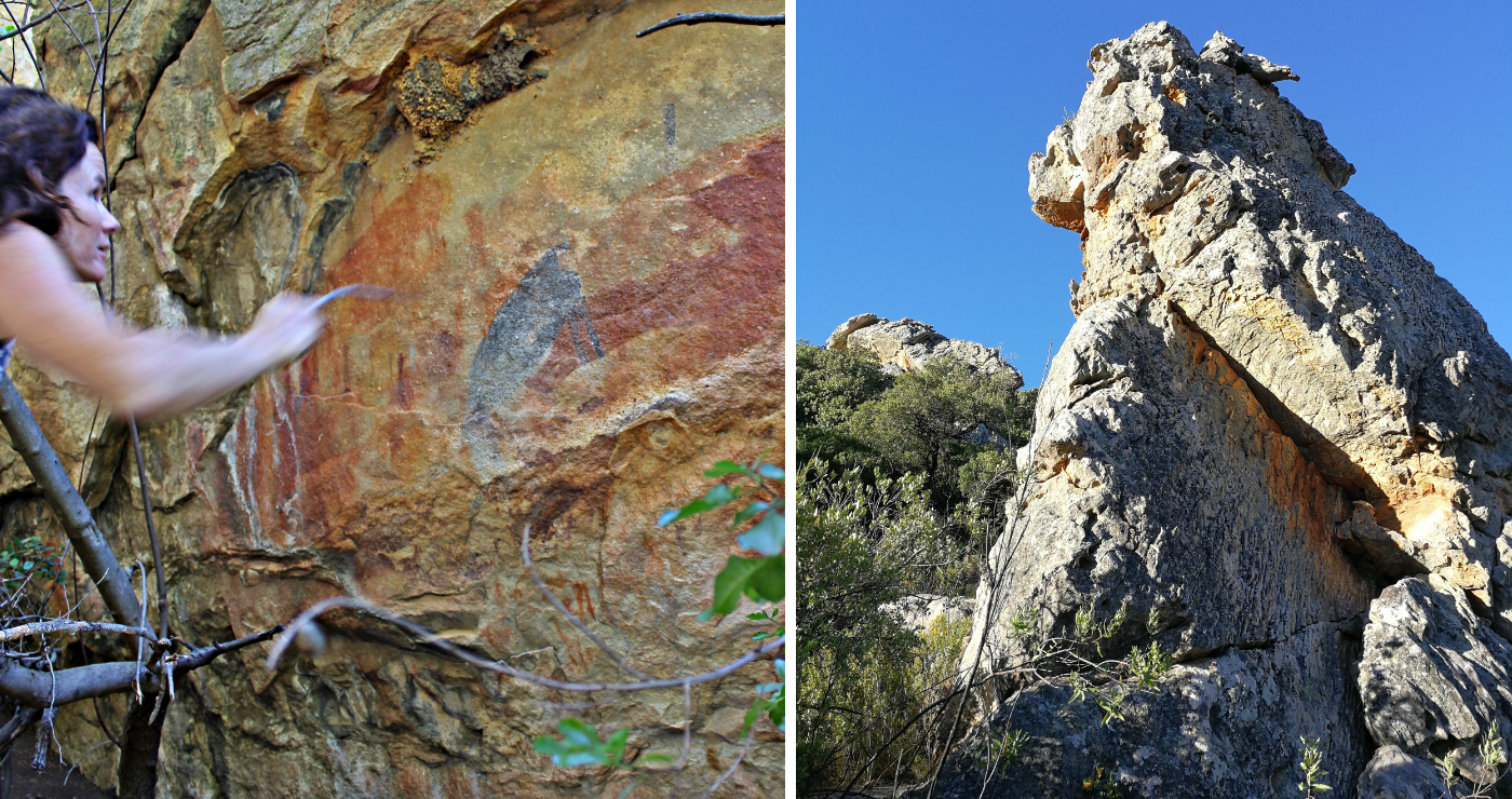 Rock art and formations   Photo on right: Willemien Engelbrecht