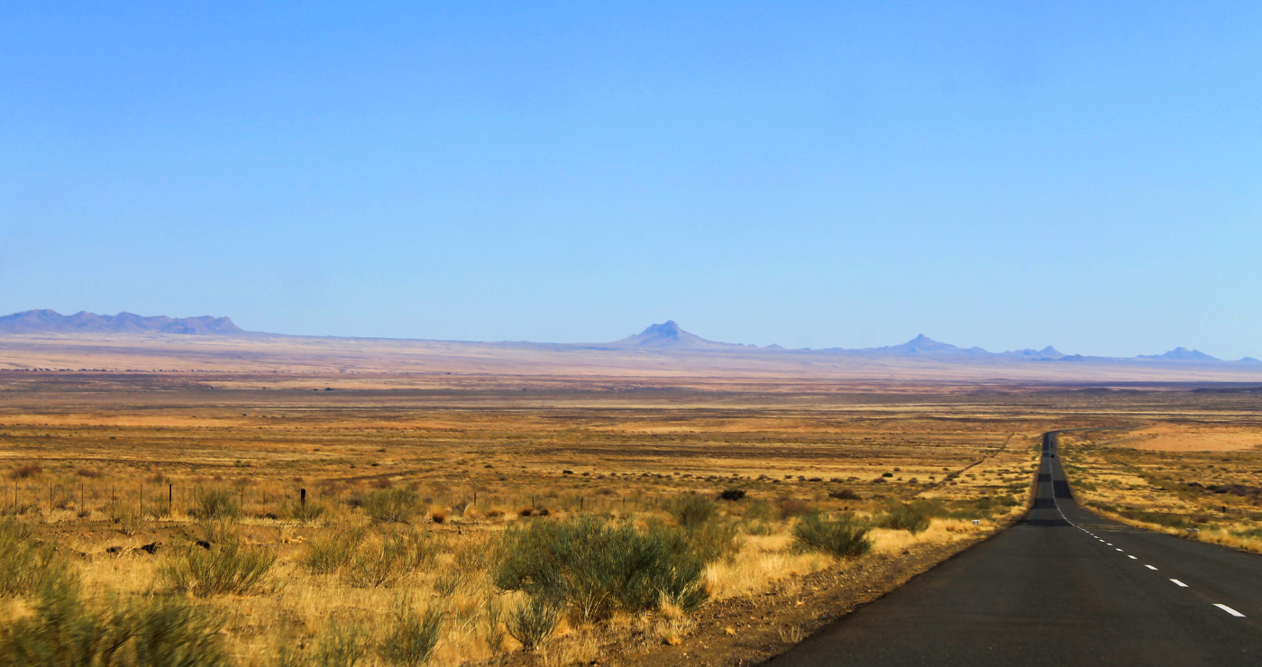 Namibië verwelkom ons.