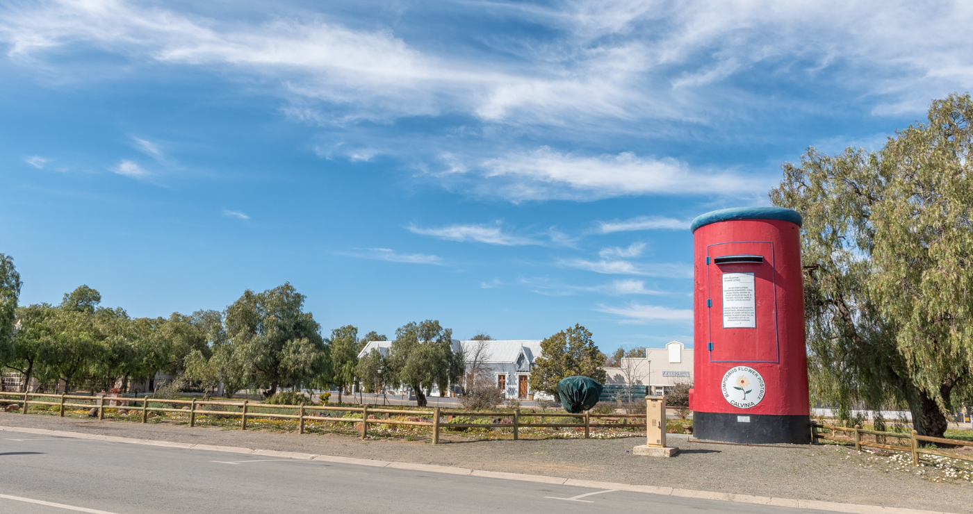 Die Rooi Posbus in Calvinia Red Post Box Life Size Postbox