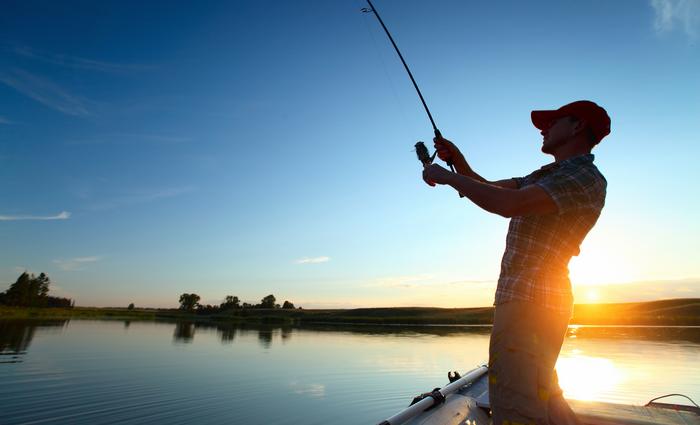 Fishing on the lagoon