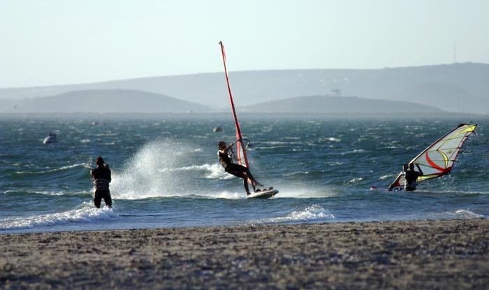 Windsurfing in Langebaan