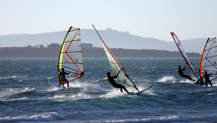 Windsurfing on the lagoon