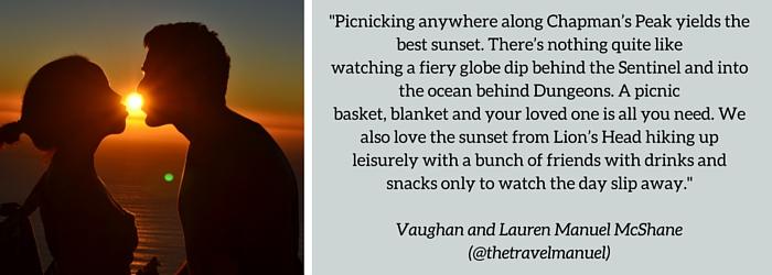 Lauren and Vaughan Manuel: Summer Sundowner Spot